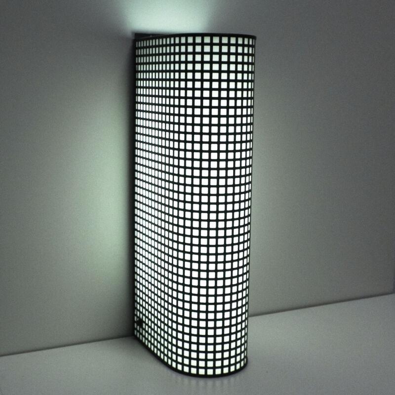 Black Wire Mesh Grid Post Modern Lamp 12