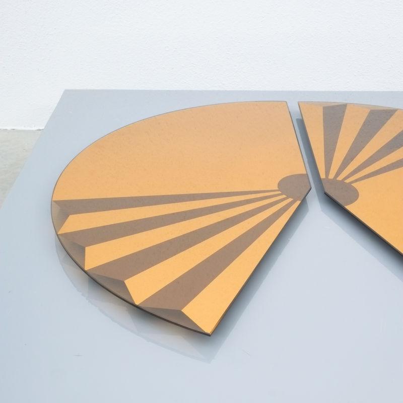 Bonze Gold Mirror Fan 1980 03