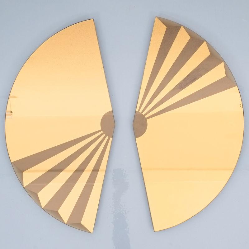 Bonze Gold Mirror Fan 1980 07