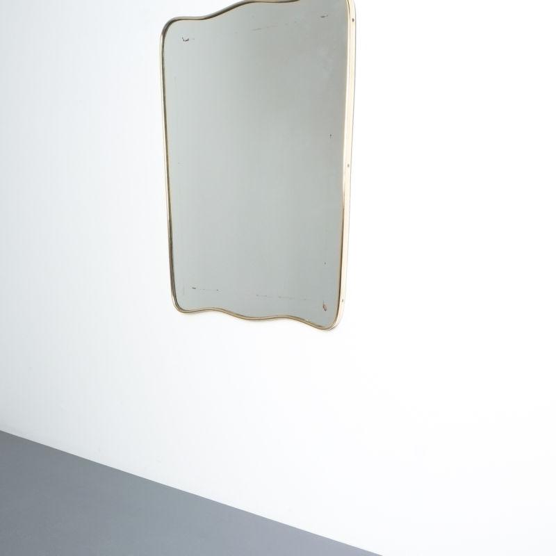 brass frame mirror italy 1950_01