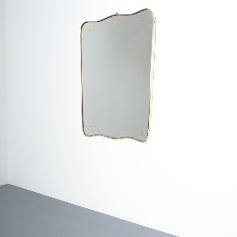 brass frame mirror italy 1950_02