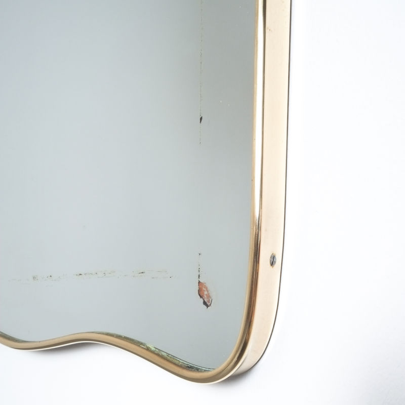 brass frame mirror italy 1950_04