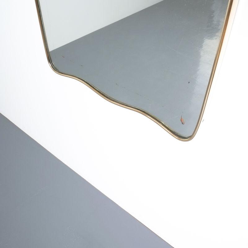 brass frame mirror italy 1950_06