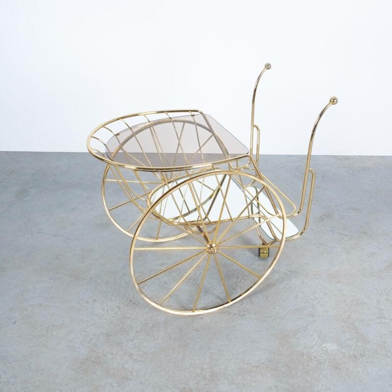 Brass Glass Bar Cart 02