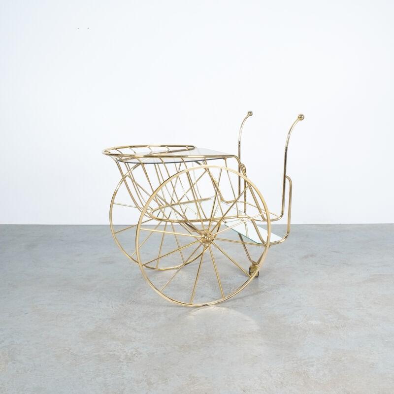 Brass Glass Bar Cart 03