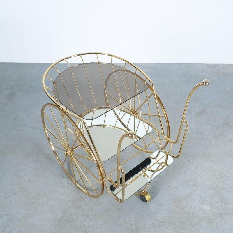 Brass Glass Bar Cart 04