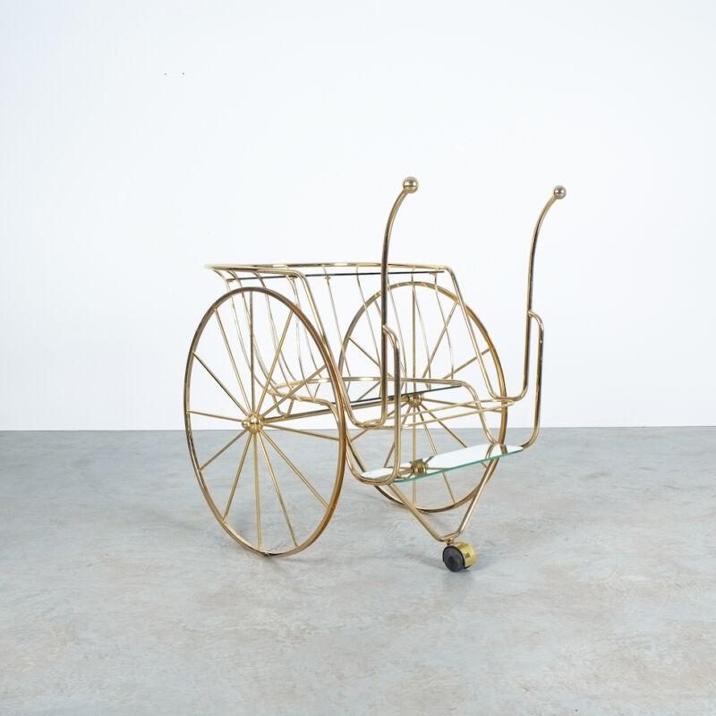 Brass Glass Bar Cart 05