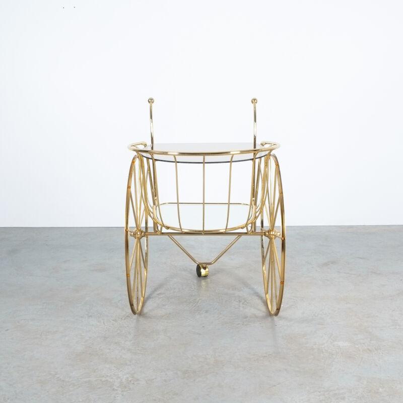 Brass Glass Bar Cart 06