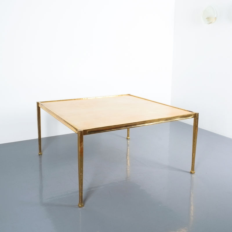 Brass Parchment Table Style Frank Tura 03