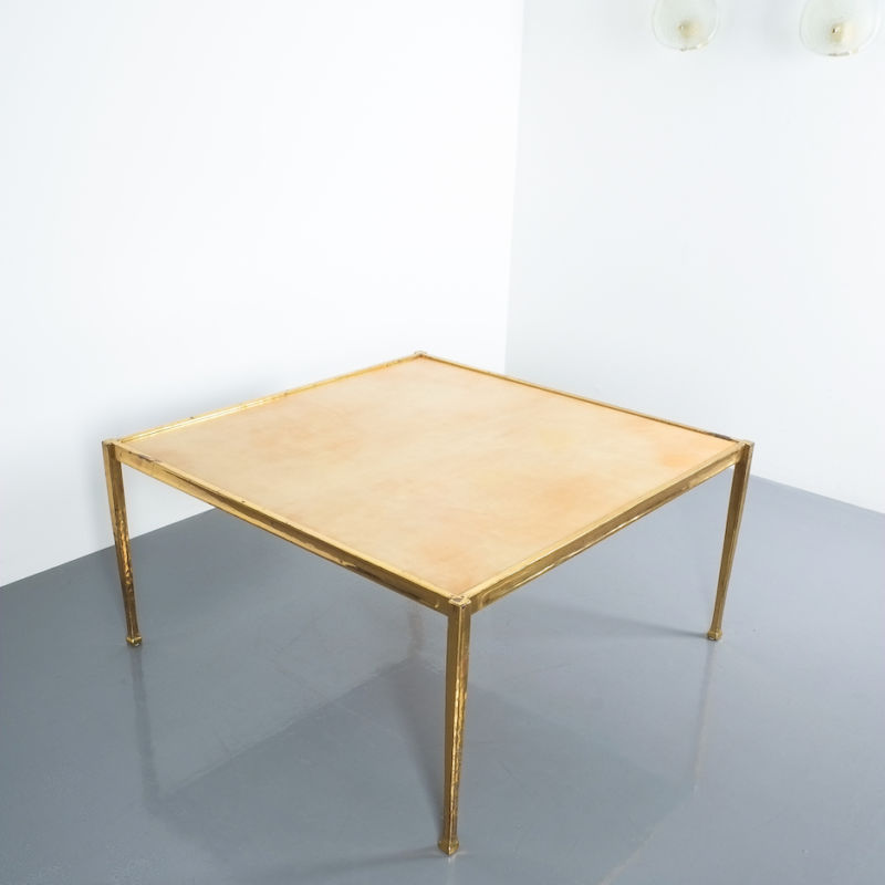 Brass Parchment Table Style Frank Tura 04