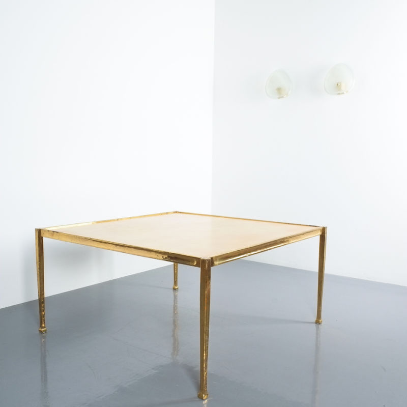 Brass Parchment Table Style Frank Tura 06