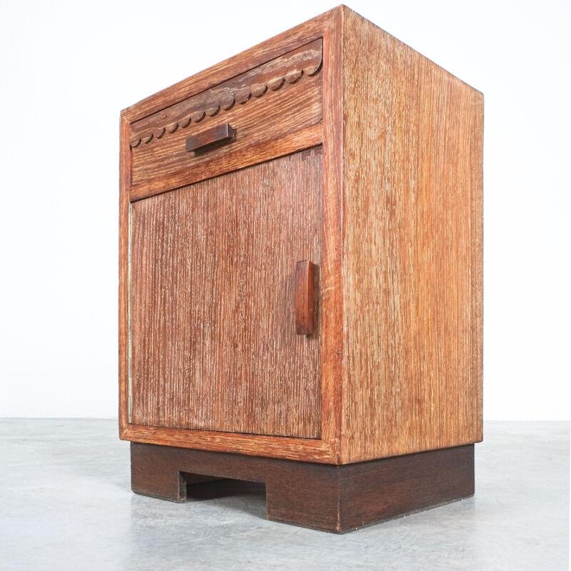 Ceruse Oak Bed Side Tables 1940 10