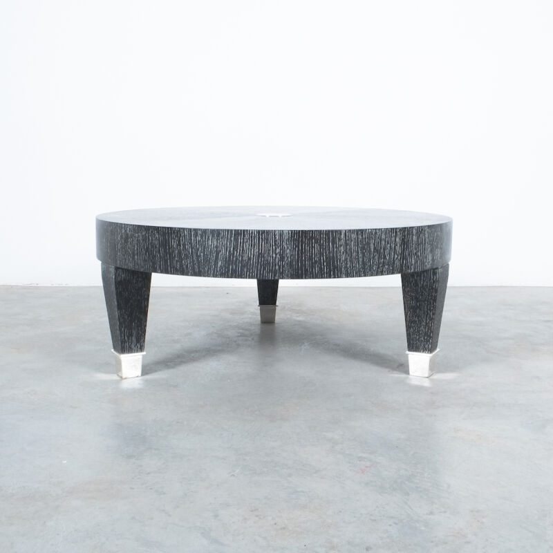 Cerused Oak Table Black Nickel 01