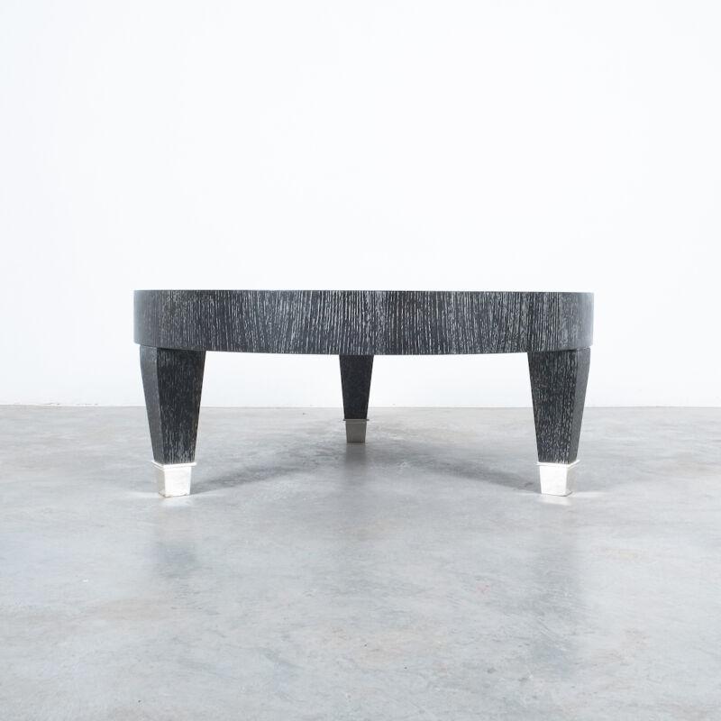 Ceruse Oak Table Black Nickel 02