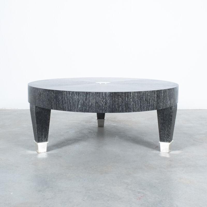 Ceruse Oak Table Black Nickel 03