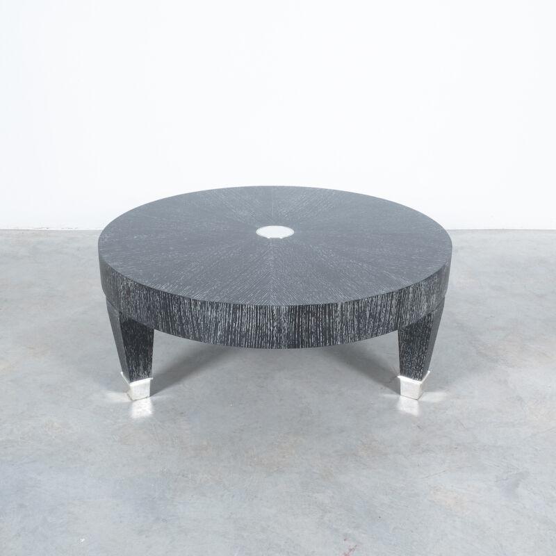 Ceruse Oak Table Black Nickel 04