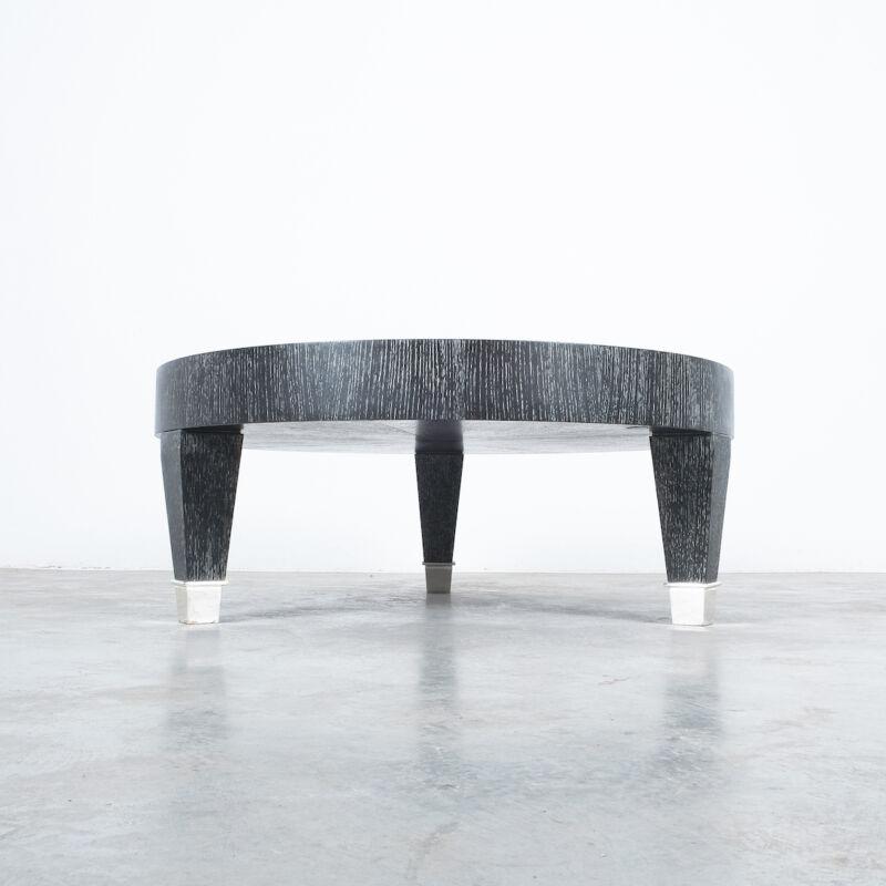 Ceruse Oak Table Black Nickel 05