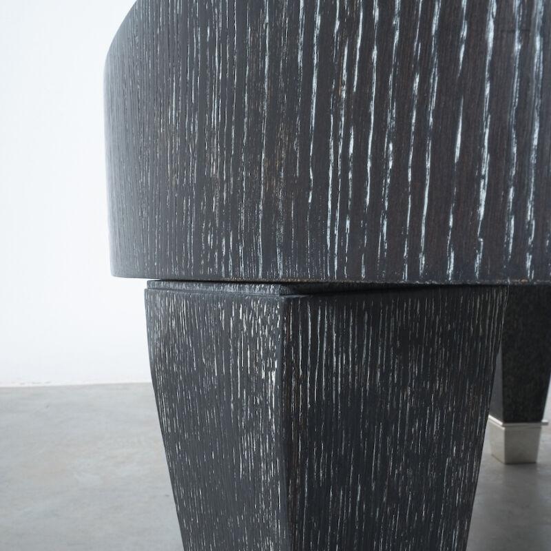 Ceruse Oak Table Black Nickel 07