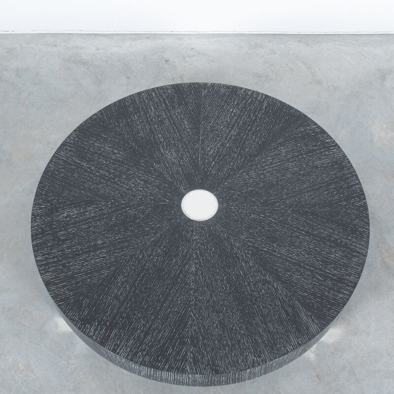 Ceruse Oak Table Black Nickel 08