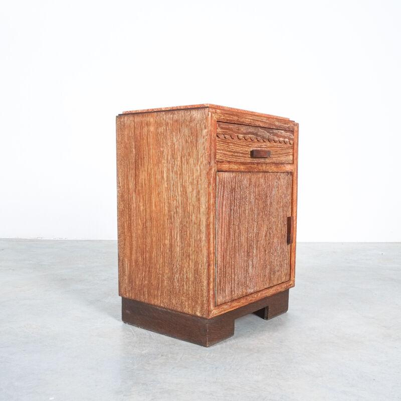 Cerused Oak Bed Side Tables 1940 01