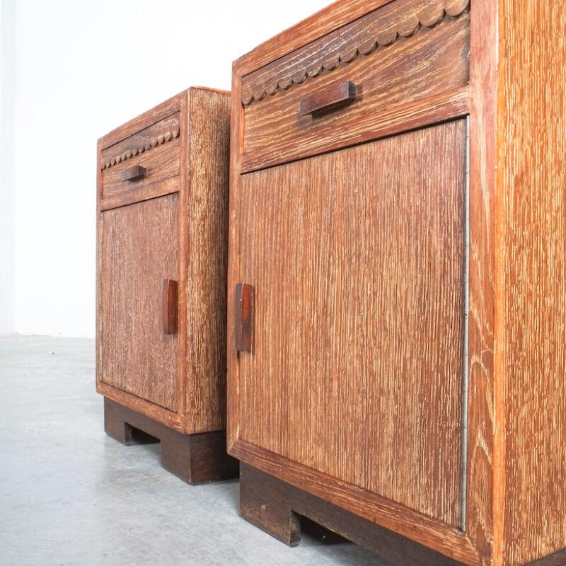 Cerused Oak Bed Side Tables 1940 03
