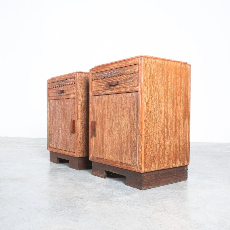 Cerused Oak Bed Side Tables 1940 05