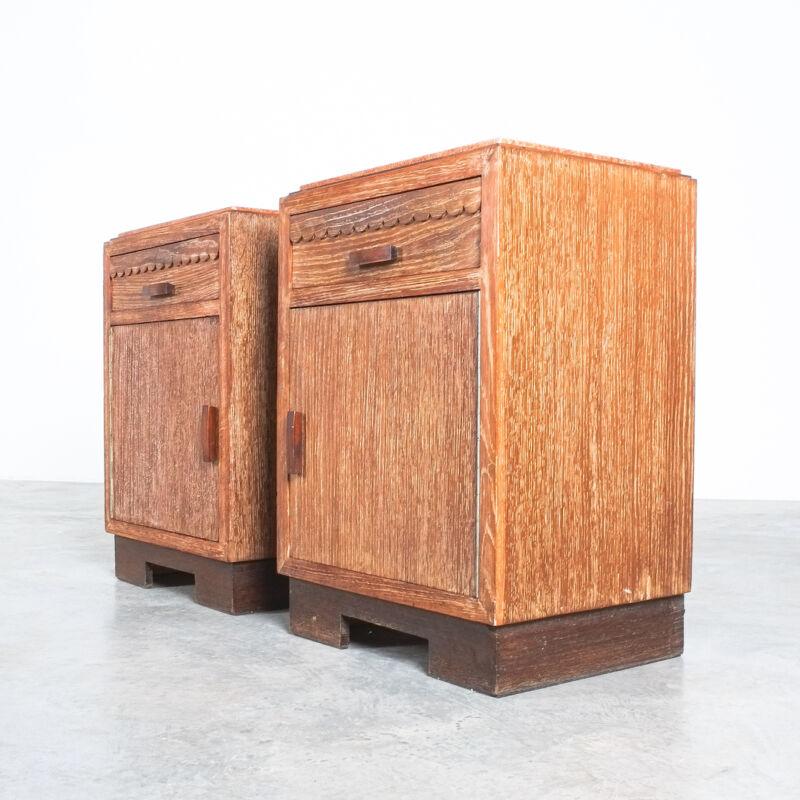 Cerused Oak Bed Side Tables 1940 06