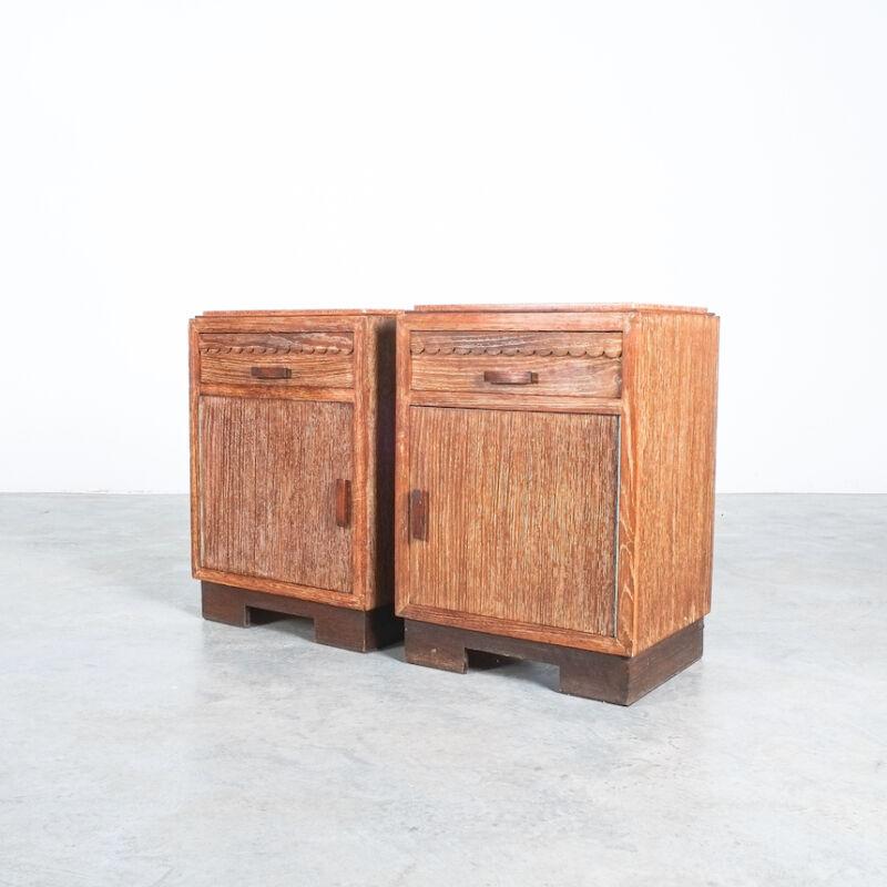 Cerused Oak Bed Side Tables 1940 07