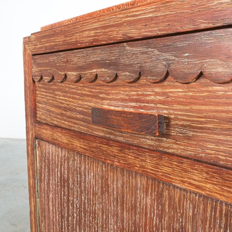 Cerused Oak Bed Side Tables 1940 11