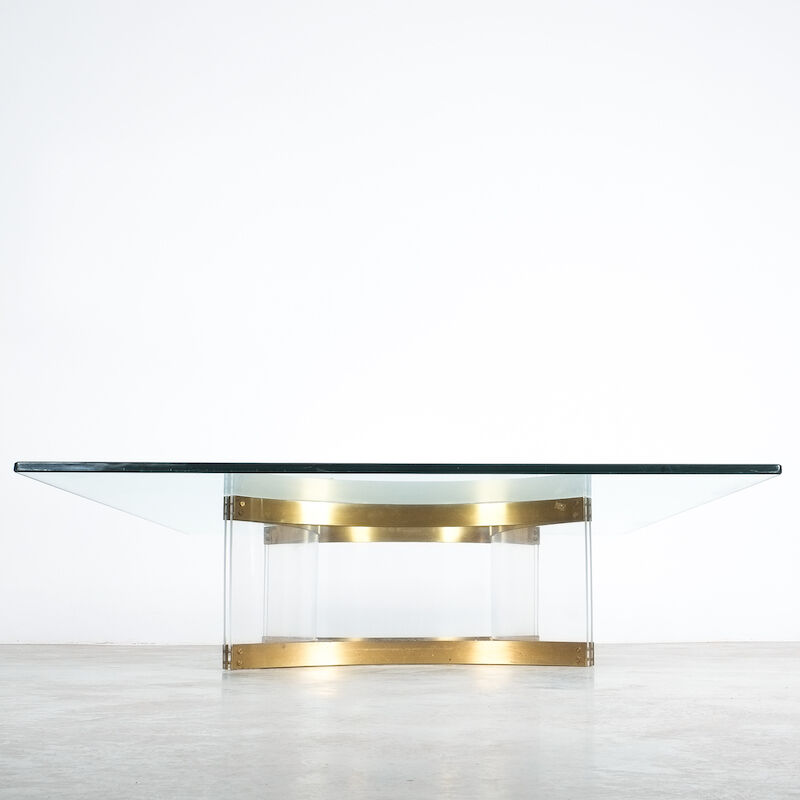 Charles Hollis Jones Lucite Table Giant 01