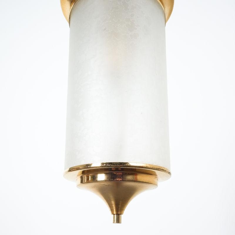 Chinosierie Pair Brass Glass Lamp 06