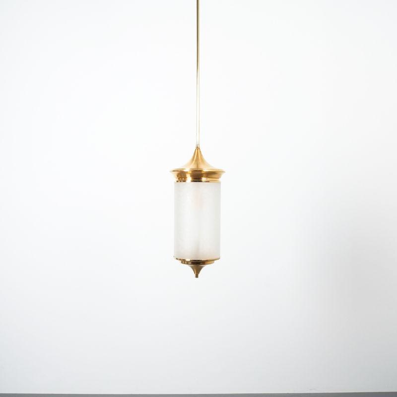 Chinosierie Pair Brass Glass Lamp 07