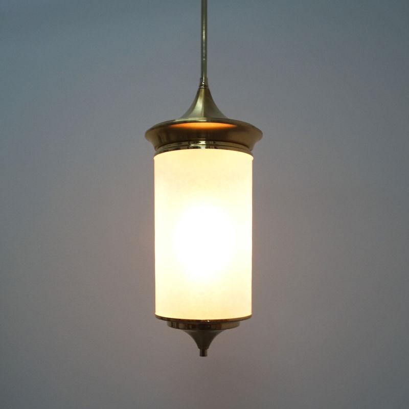 Chinosierie Pair Brass Glass Lamp 08