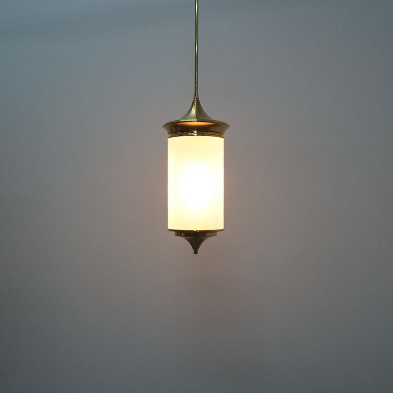Chinosierie Pair Brass Glass Lamp 09