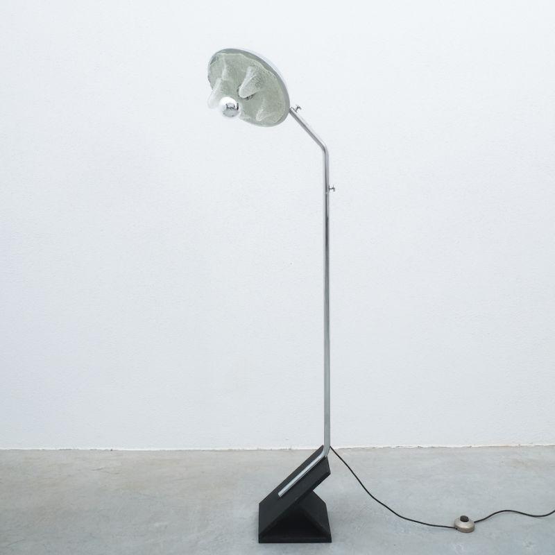Chrome Icicle Floor Lamp Cast Iron Foot 03