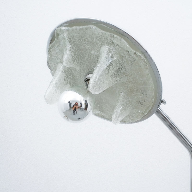 Chrome Icicle Floor Lamp Cast Iron Foot 04