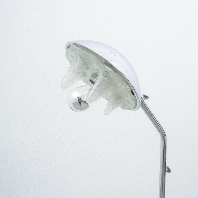 Chrome Icicle Floor Lamp Cast Iron Foot 05