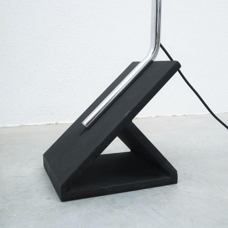 Chrome Icicle Floor Lamp Cast Iron Foot 07