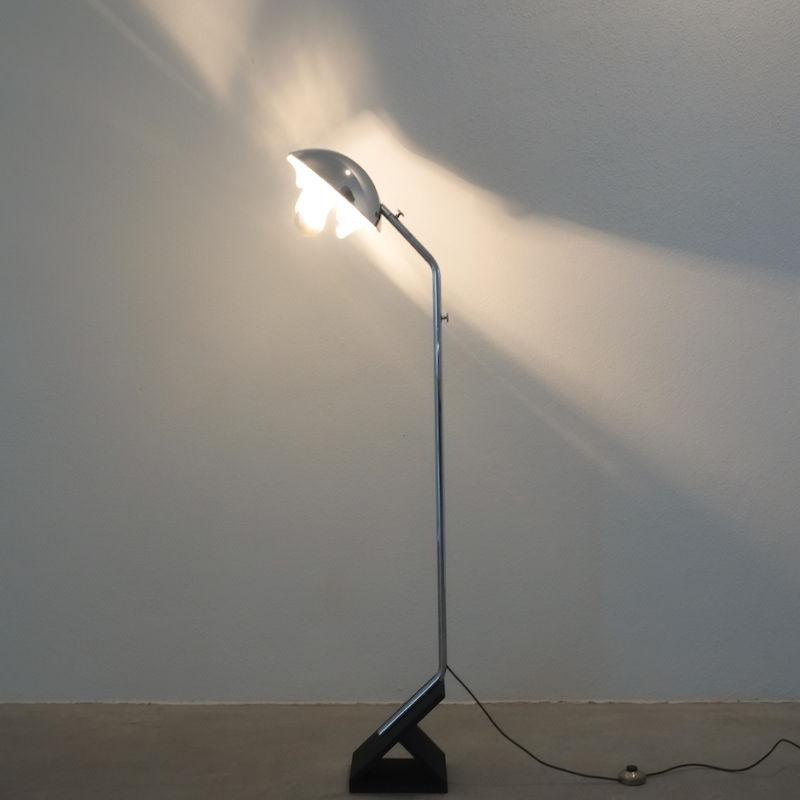 Chrome Icicle Floor Lamp Cast Iron Foot 08
