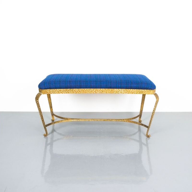 colli gold bench blue fabric_01 Kopie