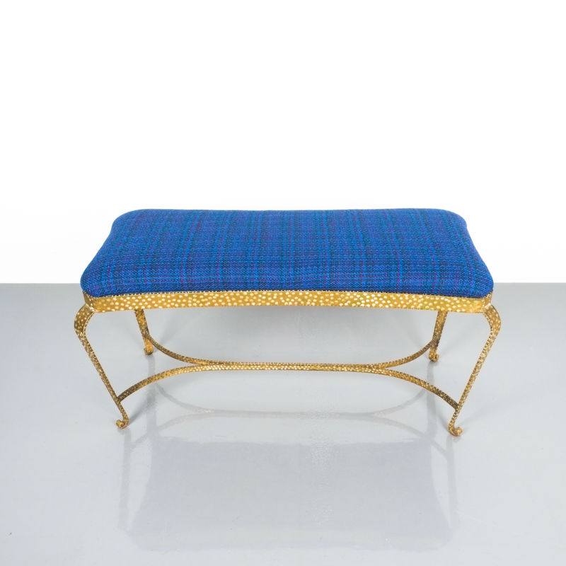 colli gold bench blue fabric_03 Kopie