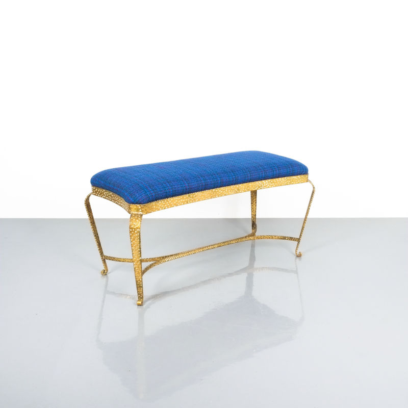 colli gold bench blue fabric_04 Kopie