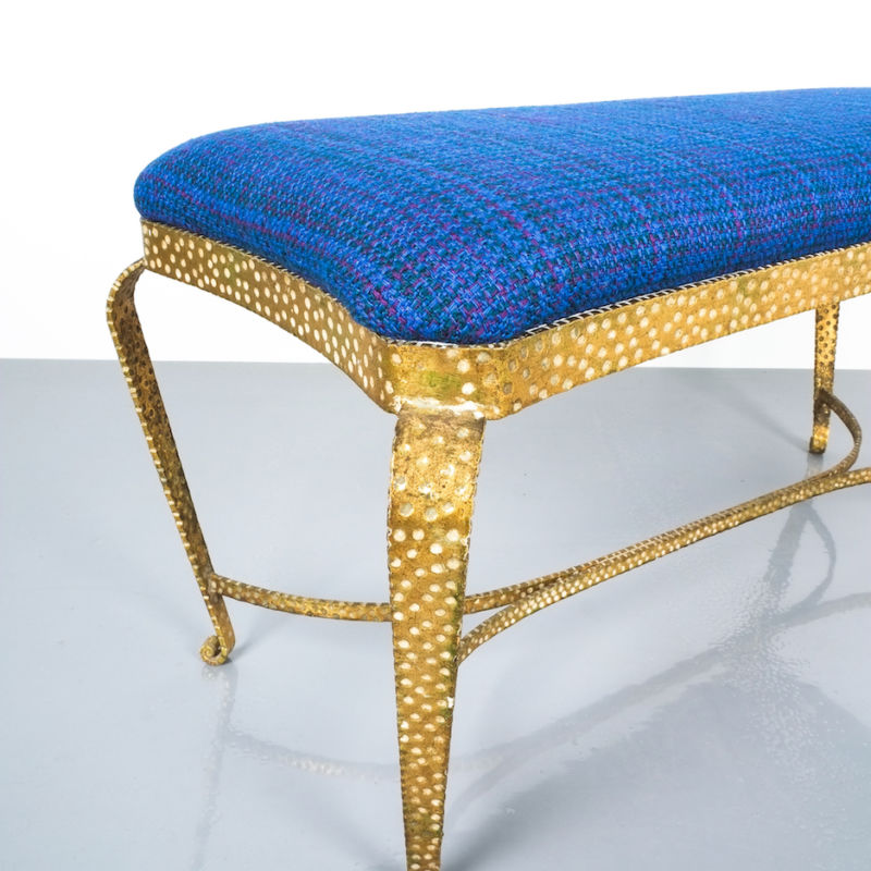 colli gold bench blue fabric_05 Kopie