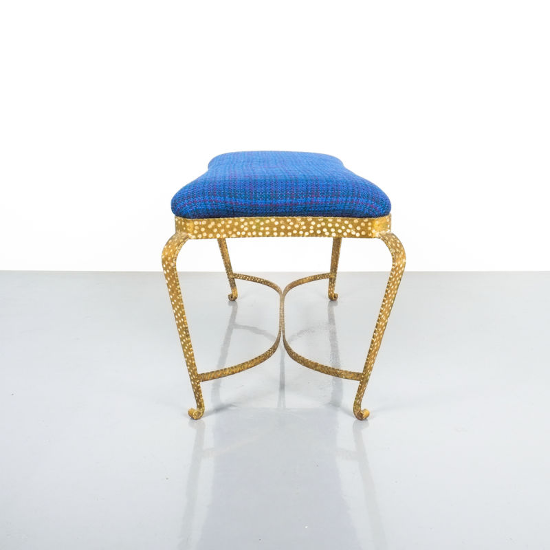 colli gold bench blue fabric_07 Kopie