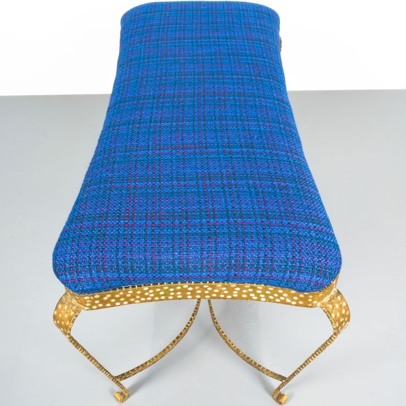 colli gold bench blue fabric_08 Kopie