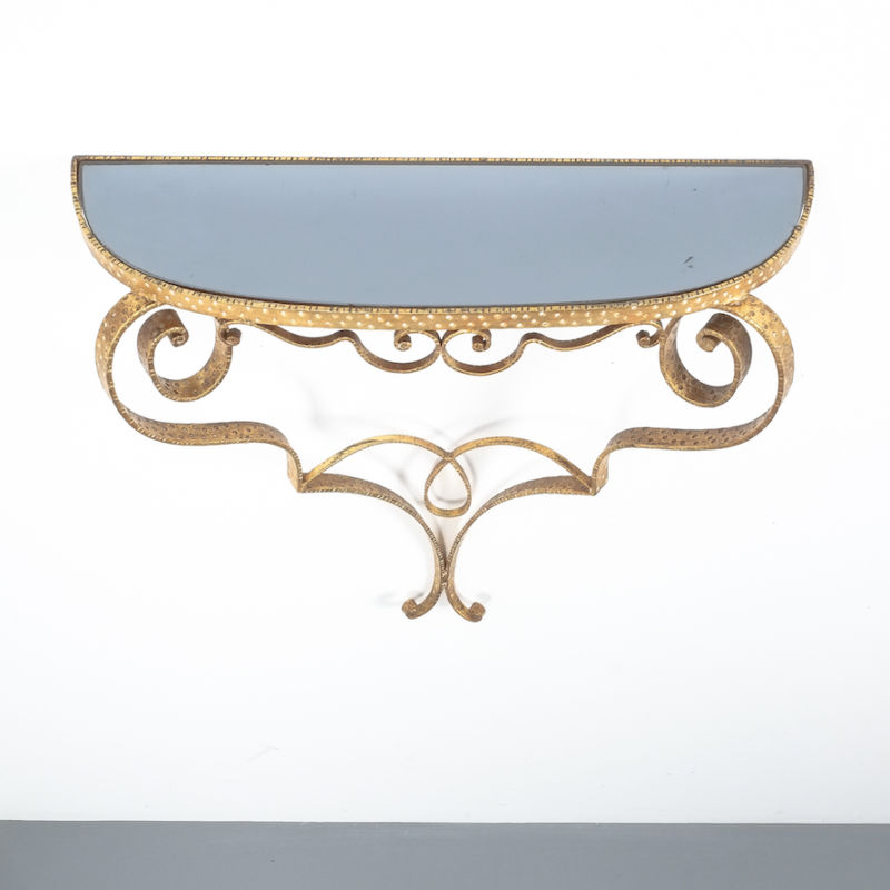 Colli Golden Iron Console Table 03