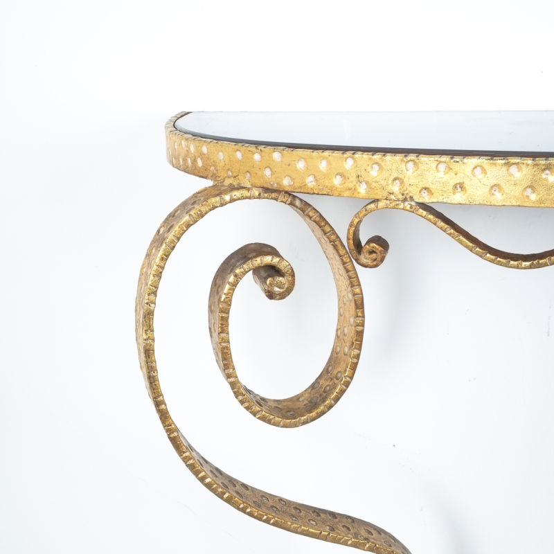 Colli Golden Iron Console Table 05