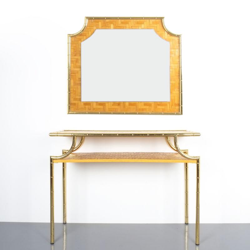 bamboo crespi style brass table 18 Kopie 3