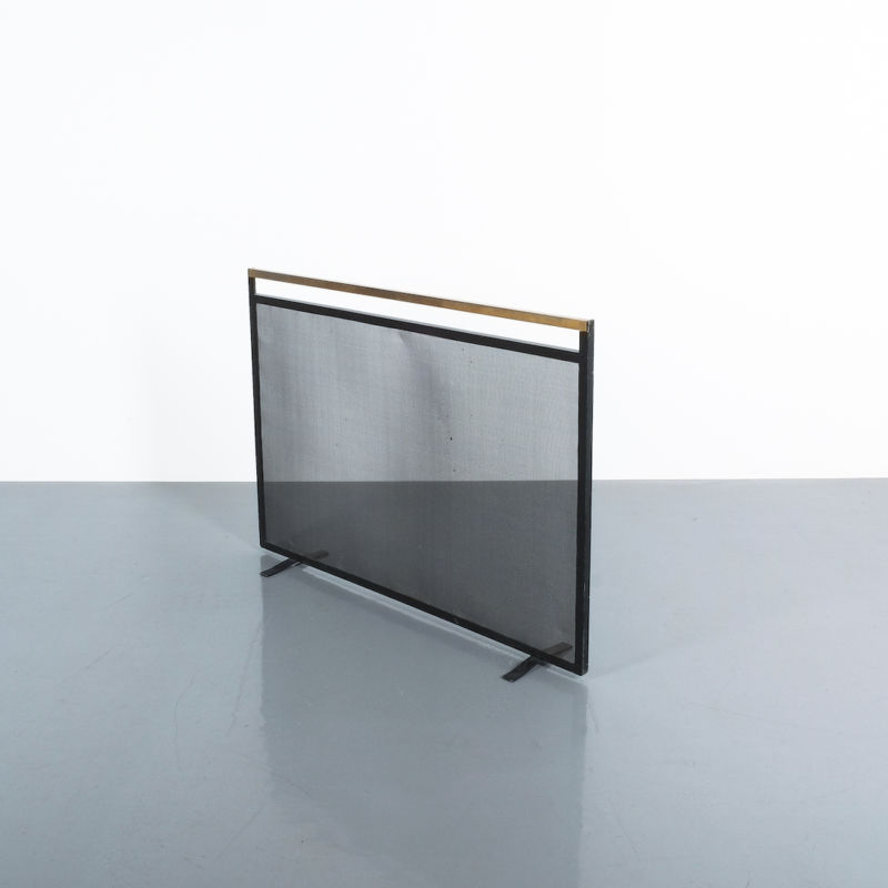 Fire Screen Brass Iron 01