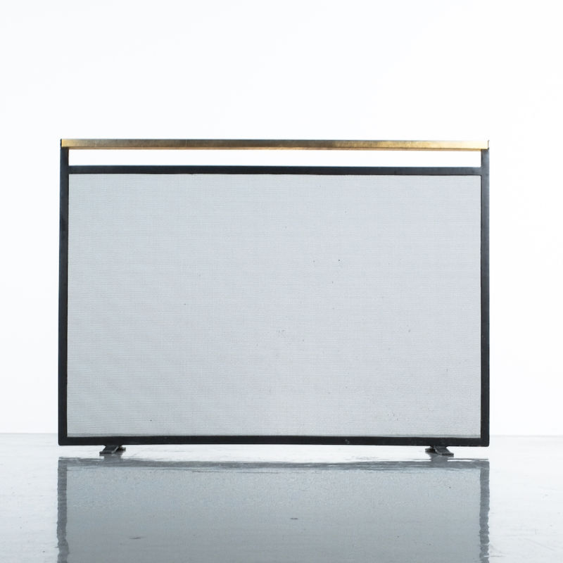 Fire Screen Brass Iron 03